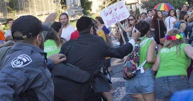 AP PHOTOS: Attack on gay pride parade in Jerusalem