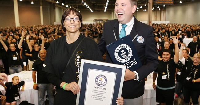 Subway sandwich artists set world record in Las Vegas