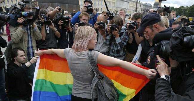 Russian police detain several gay activists