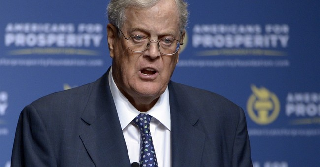 Koch warns conservatives must demand smaller government