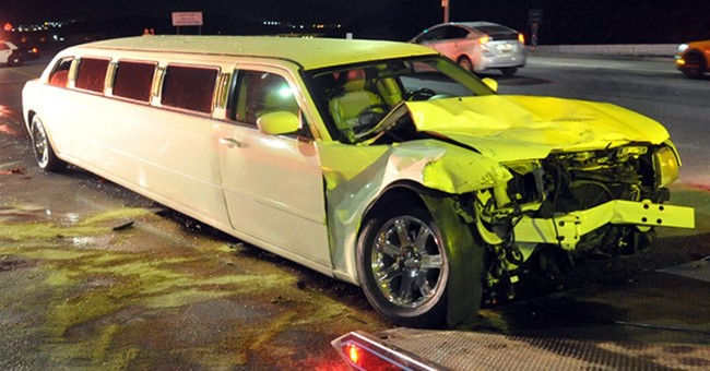 Limousine, 2 other vehicles crash near LA; 11 people injured