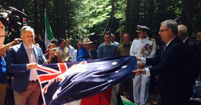 Italy honors Australian aviator killed in '33 Tuscany crash
