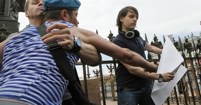 Russian police detain several gay activists