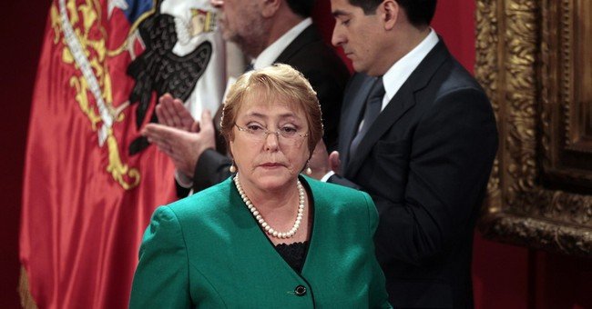 Chile poll: Bachelet's approval rating at new low