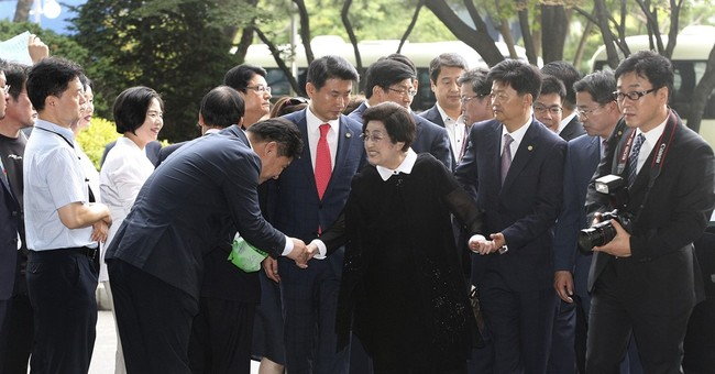 Widow of former South Korean leader arrives in North Korea