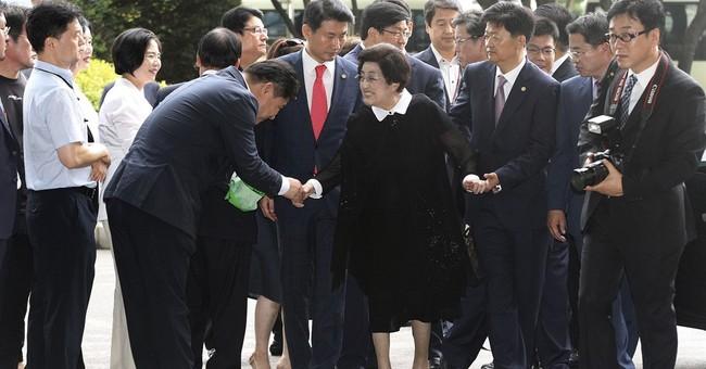 Widow of former South Korean leader arrives in North Korea