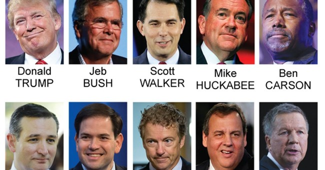 Debate field is set: Trump, Bush in; Santorum, Fiorina out