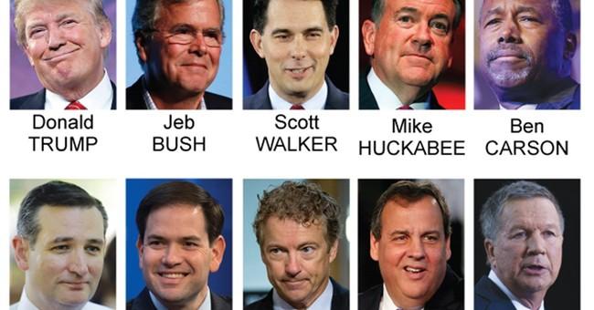 Debate field is set: Trump, Bush in; Santorum, Fiorina out