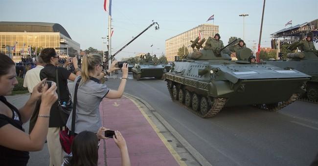 Croatia celebrates independence while rival Serbs mourn
