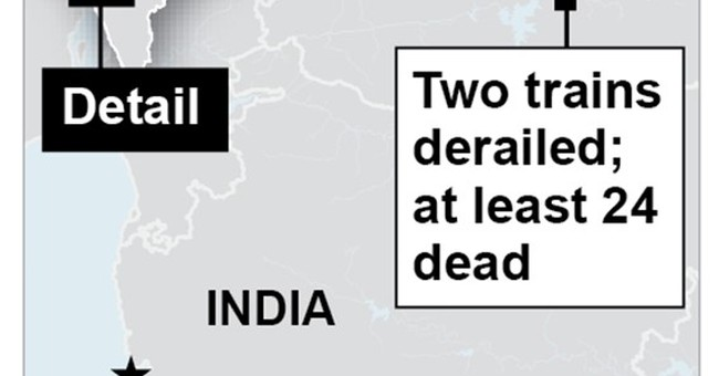 At least 24 killed, 300 survive after trains derail in India