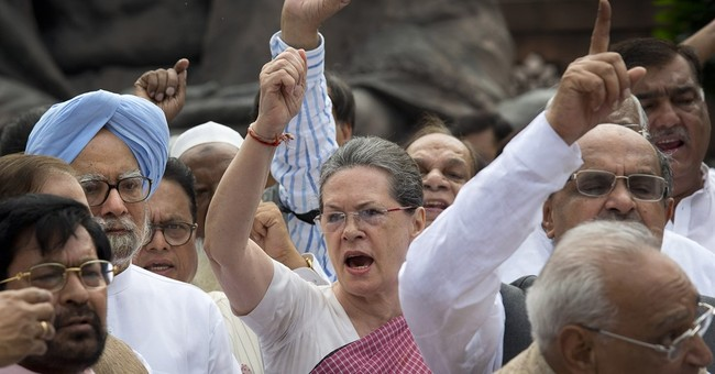 Image of Asia: Protesting at India's Parliament