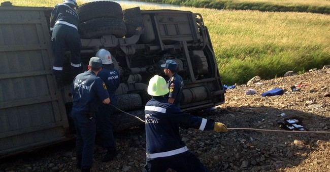 16 killed in Russia bus collision, more than 50 injured