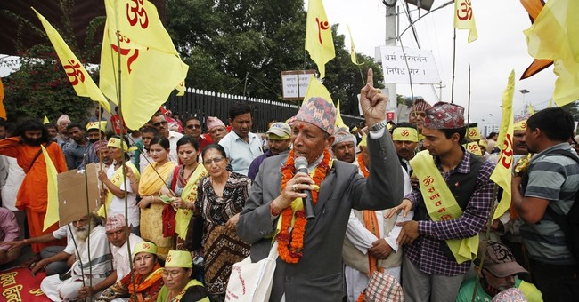 Protesters clash with police in Nepal, demanding Hindu state
