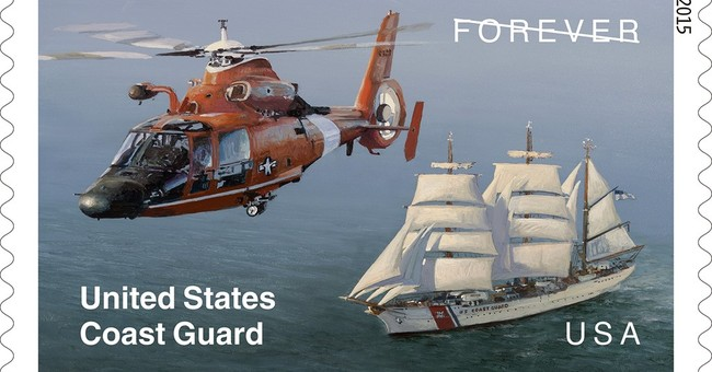 US Postal Service dedicates new Coast Guard stamp in Newport
