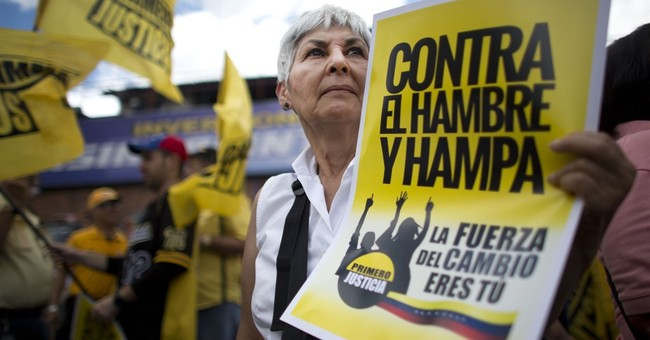 Venezuelan opposition stages march against hunger