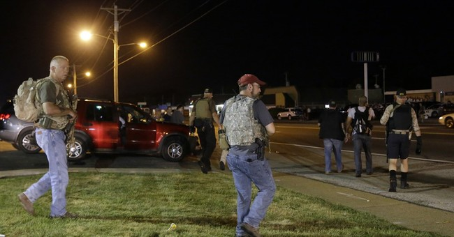 Armed militia group's return to Ferguson raises concern