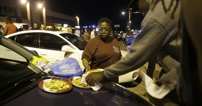 After 2 nights of tension, a peaceful protest in Ferguson