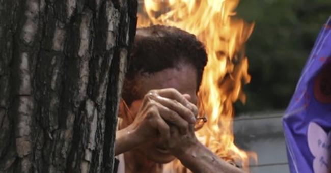 Korean man badly hurt after self-immolation at Japan protest