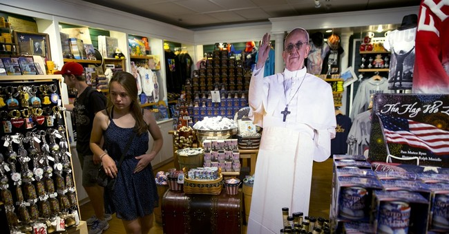 Life-size cutouts of Pope Francis pop up ahead of US visit