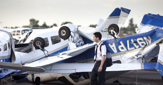 Monsoon storm flips small planes at Phoenix-area airport