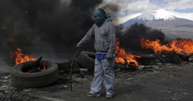 Ecuador's Cotopaxi volcano spews ash just south of Quito