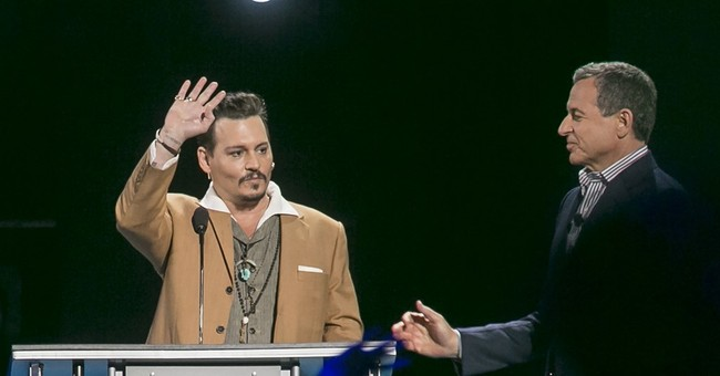 Johnny Depp makes surprise appearance at Disney convention