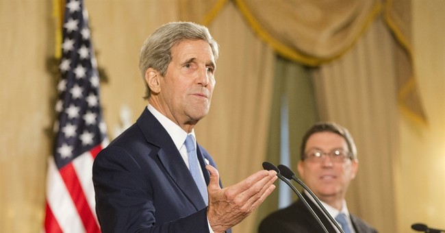 The Latest: Kerry speaks at residence of US mission chief