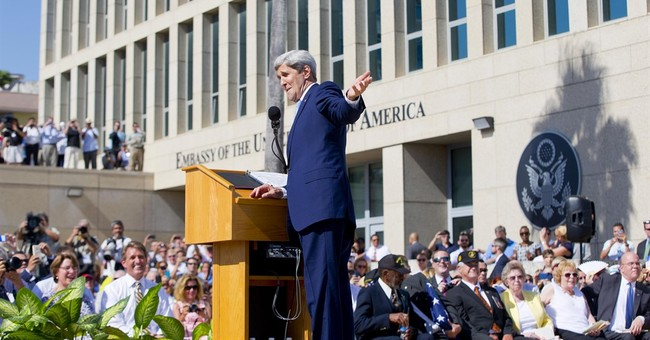 Kerry calls for democracy as US flag is raised in Cuba