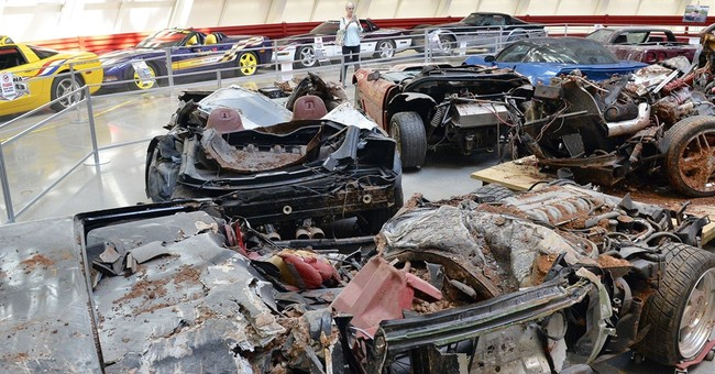 Wrecked cars revving up visits to National Corvette Museum