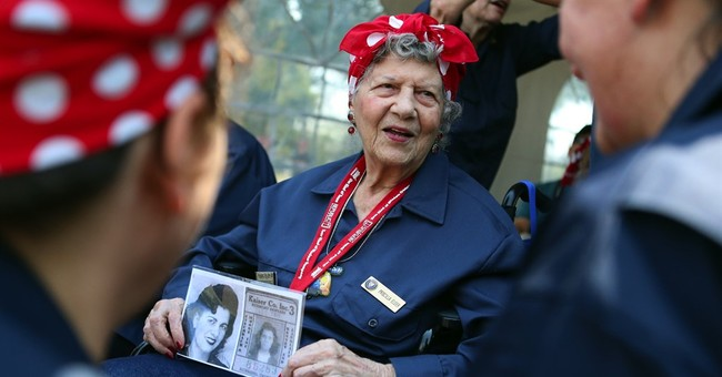 Hundreds of 'Rosie the Riveter' attempt record in California
