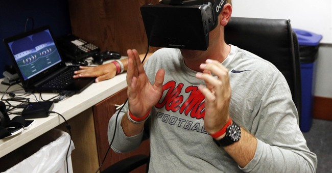 Football's future? QBs training with virtual reality