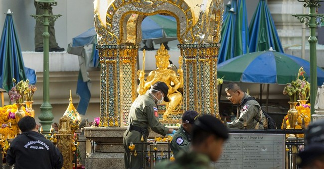 The Latest: Japanese man seriously injured in Bangkok blast