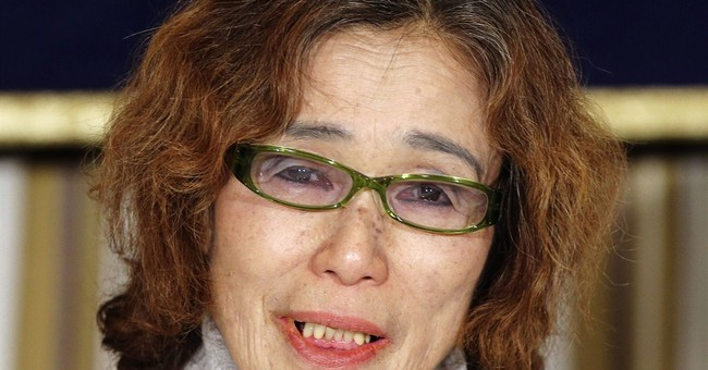 AP PHOTO: Mom's appeal to save Japanese hostage