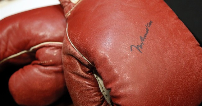 Gloves from infamous Ali-Liston rematch going to auction