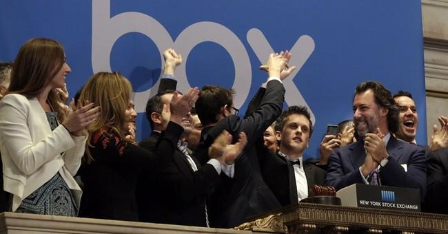 Online storage provider Box soars in Wall Street debut