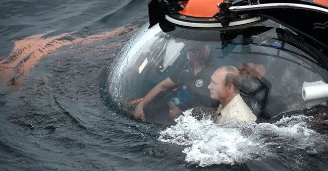 Russia's stunt-loving Putin rides to bottom of Black Sea
