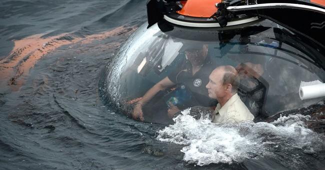 Russia's stunt-loving Putin rides to bottom of Black Sea