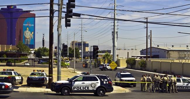 Fire erupts near Las Vegas Strip at hot air balloon business