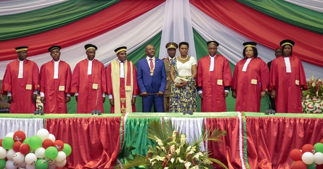 Burundi president unexpectedly sworn in