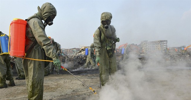Toxic chemical levels high in Chinese city hit by blast