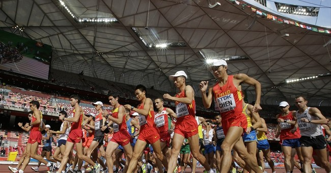 The Latest: 20K walk gets action underway on Day 2 at worlds