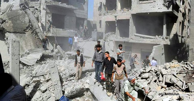 Syria activists: 20 killed in airstrikes on Damascus suburb