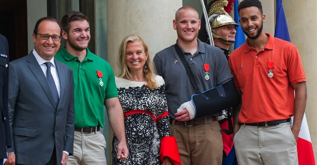 Heroes who foiled train gunman scheduled for rest, college