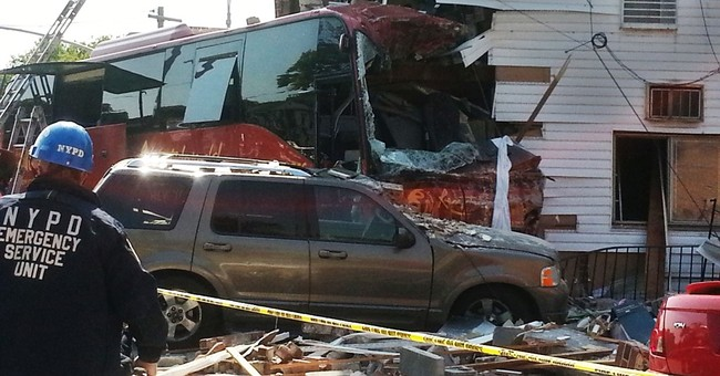 Police: Car driver cut off NYC casino bus before it crashed