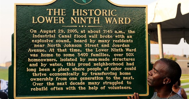 Katrina marker commemorates flooding of Lower 9th Ward
