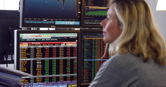 The Latest: Dow fell more than 600 points from day's peak