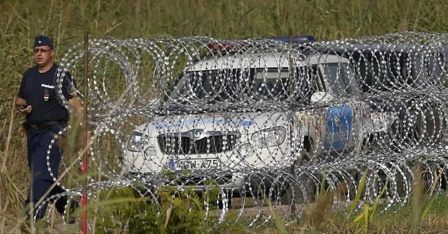 Surge of migrants walking through Balkans hits Hungary