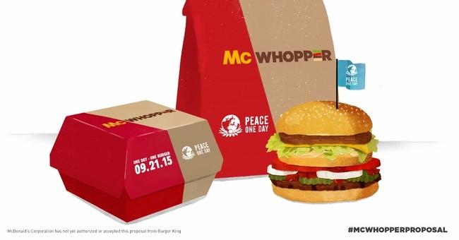 Burger King to McDonald's: Let's make a McWhopper