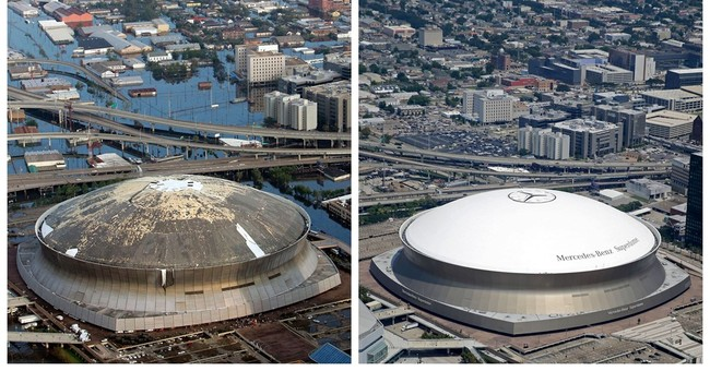 AP PHOTOS: Before and after images of areas hit by Katrina