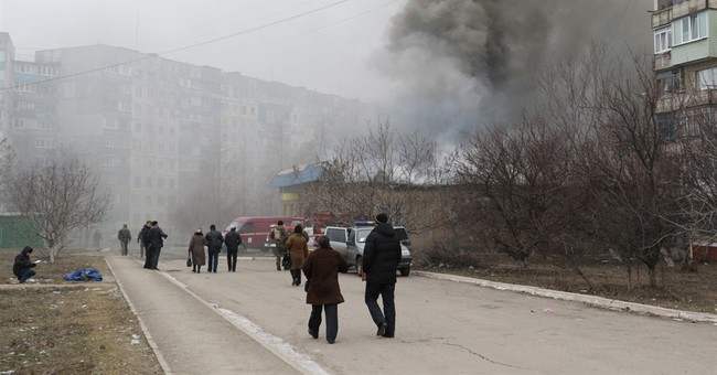 Rockets kill 30 in Ukrainian city as rebels launch offensive
